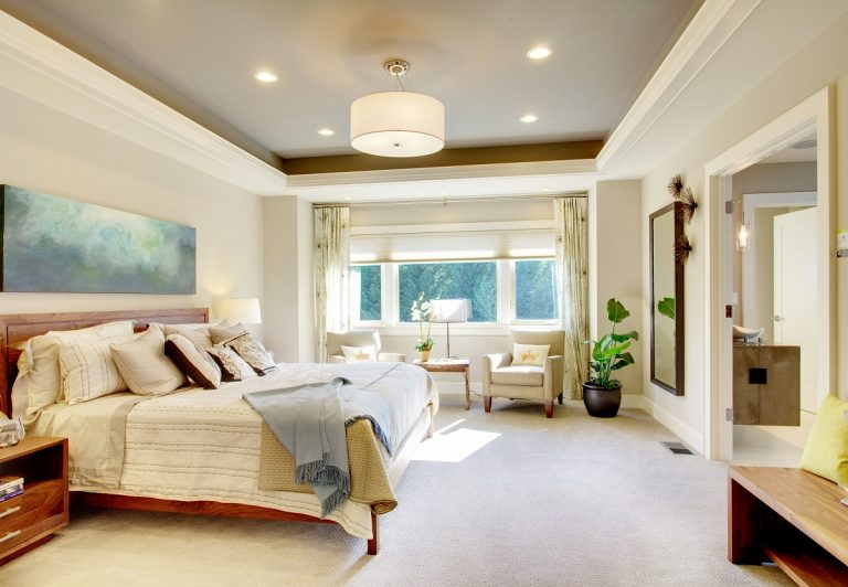 Modern bedroom with luxurious interior