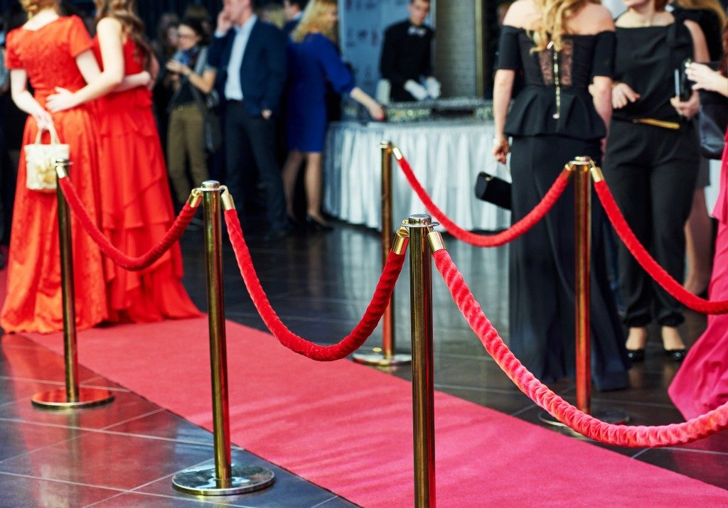red carpet at an event