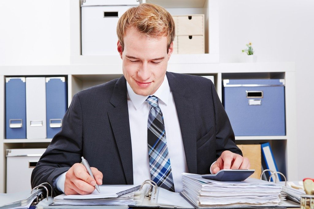 Man working at his desk