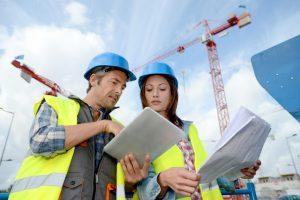 engineers wearing hard hats