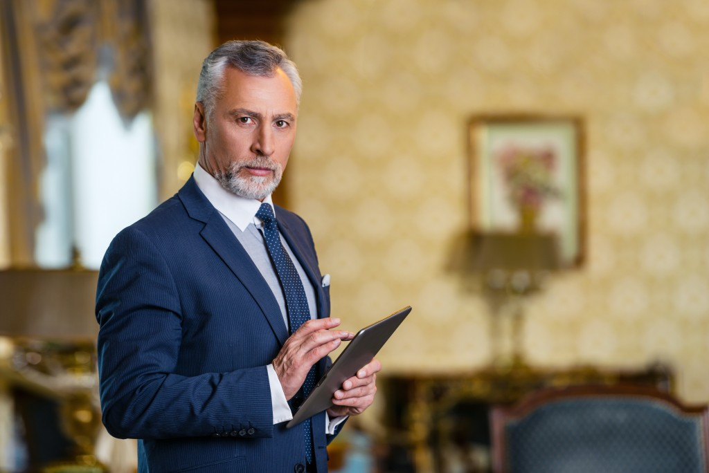 Man in business attire