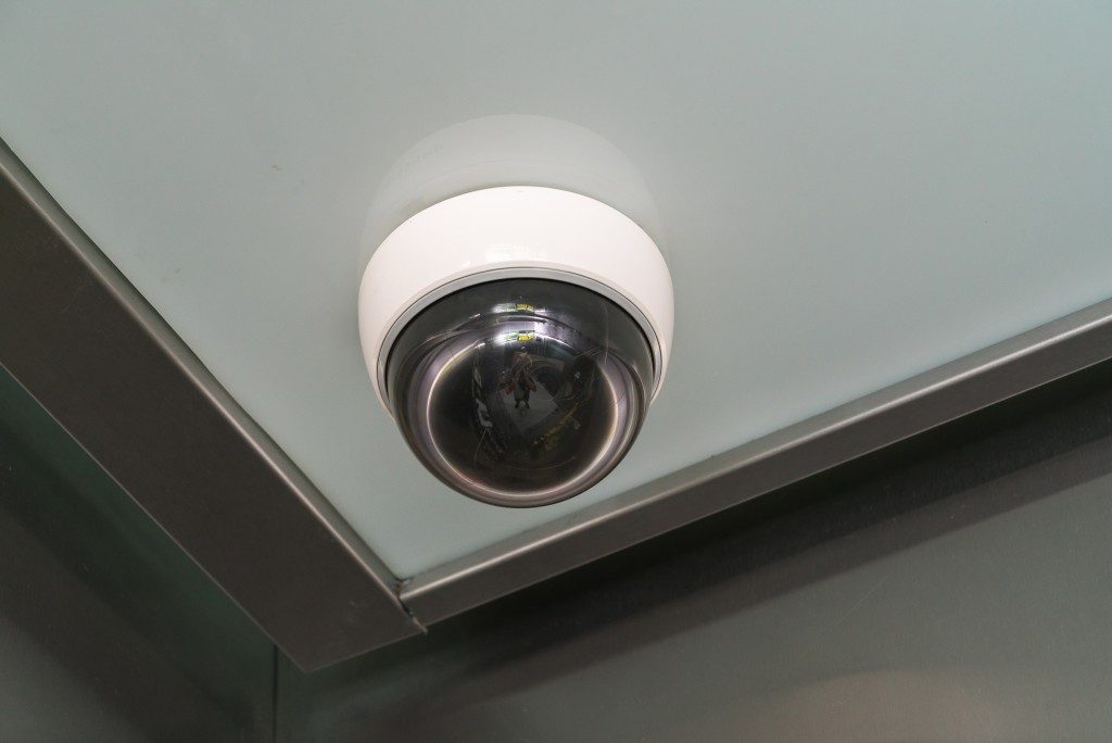 cctv camera installed in a home