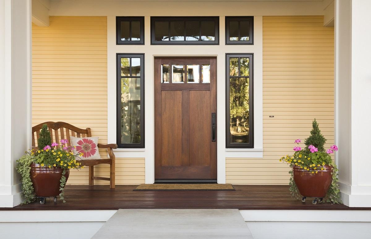 House's front door