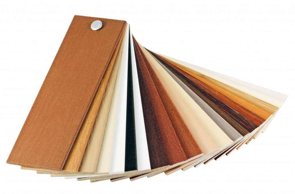 flooring material swatches