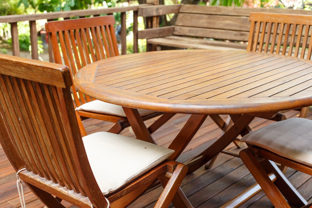 furniture on a deck