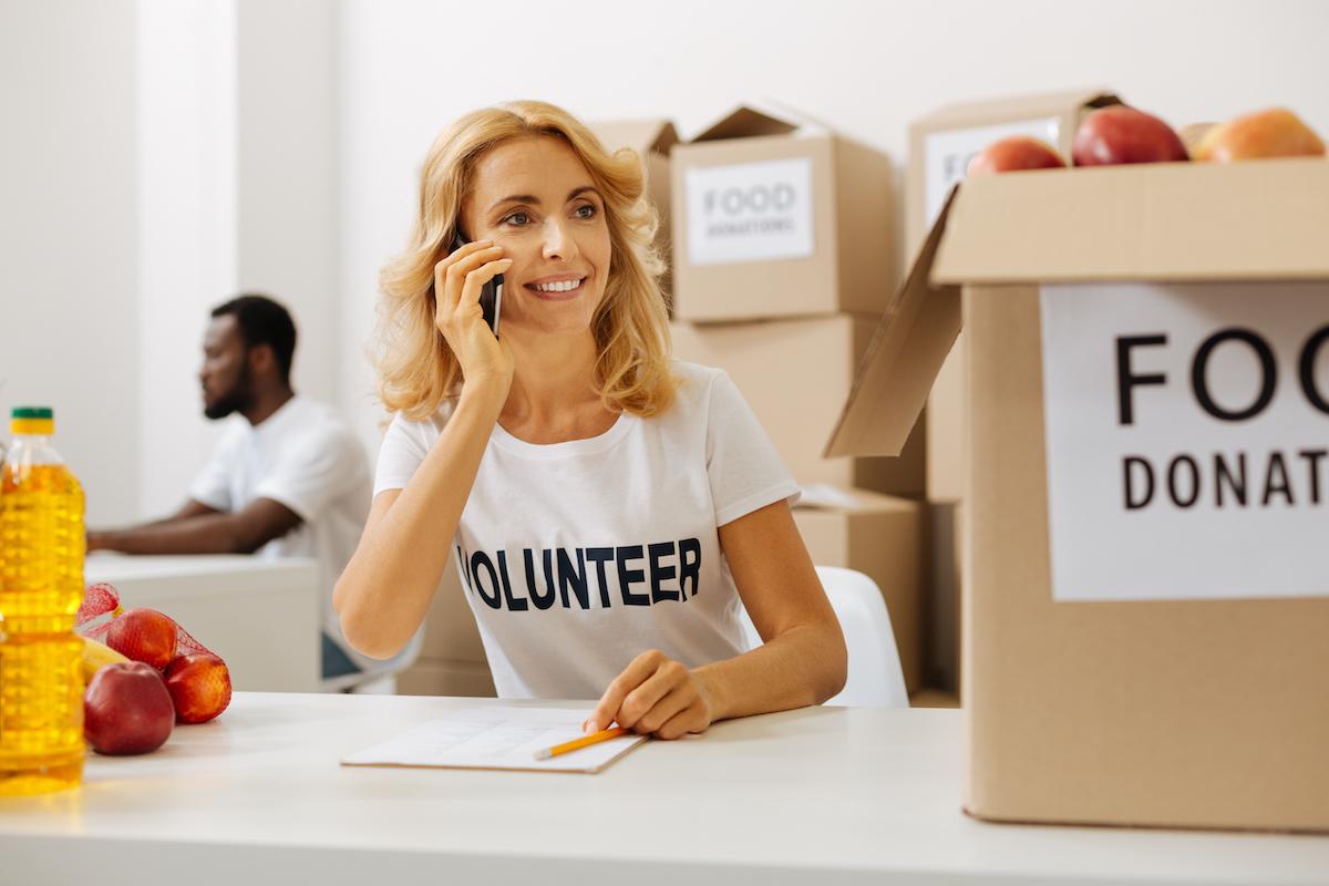 volunteer at a donation center