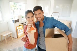 Couple owning a new property