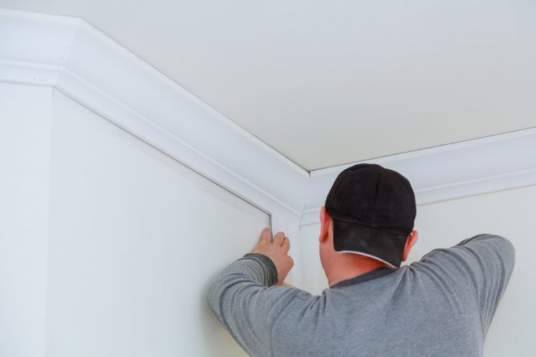 contractor fixing the ceiling