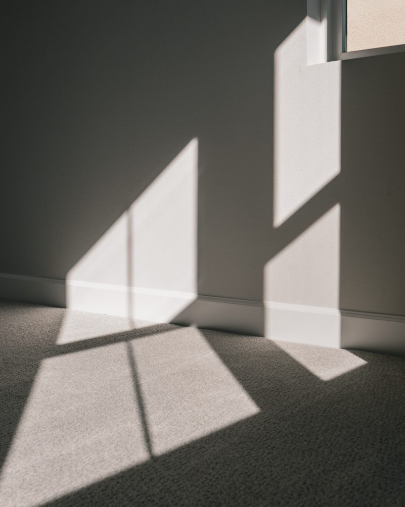 sunlight coming from window