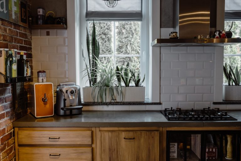 a window in the kitchen