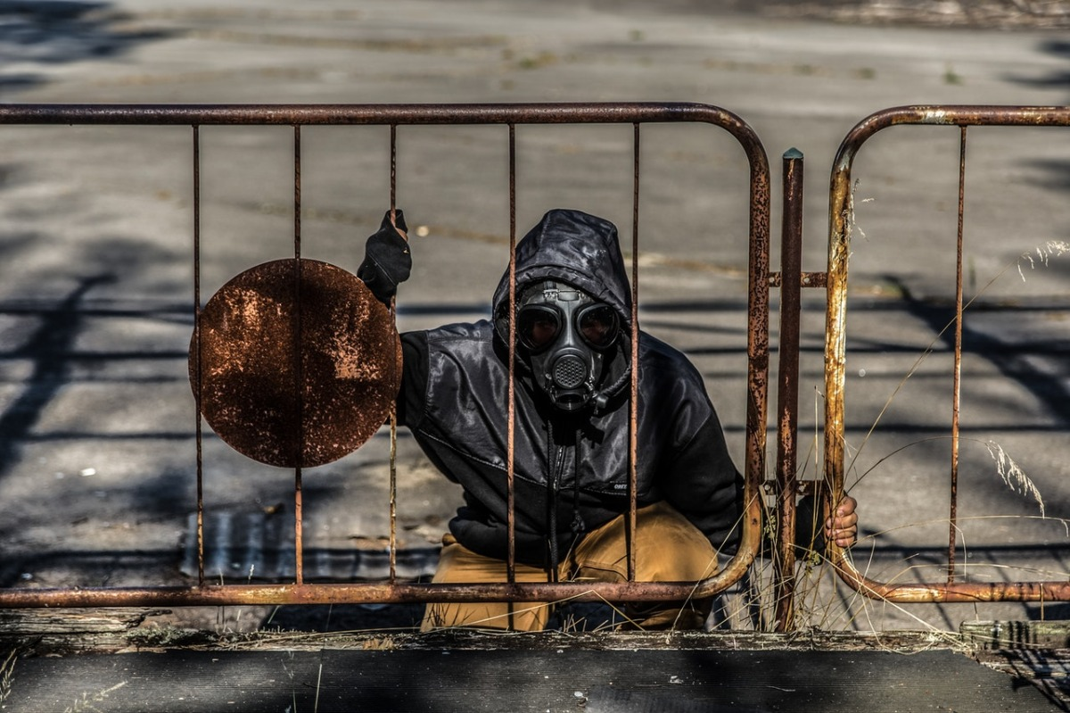 man near a fence