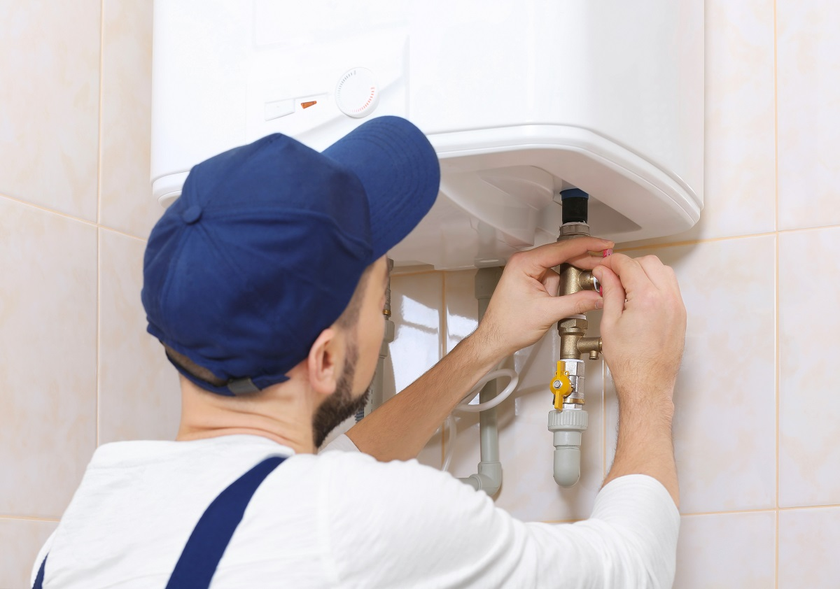 man fixing home