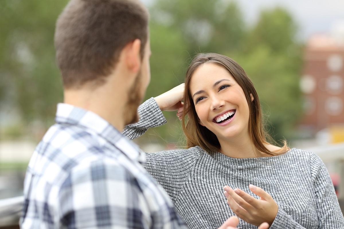 talking outdoors