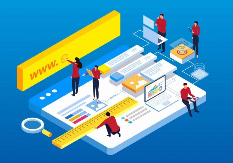 website building graphic